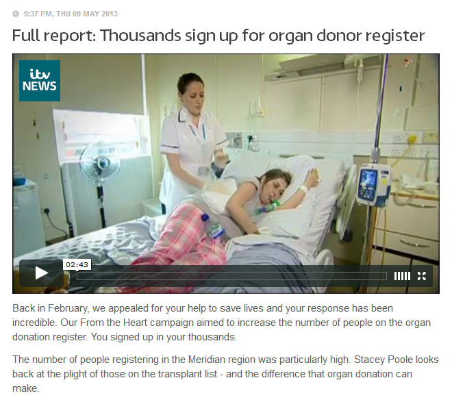 Organ donors up 1000%